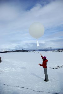 Student releases weather balloon